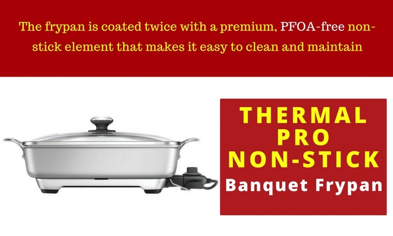 Large Electric Frypan New Banquet Family Breville Thermal