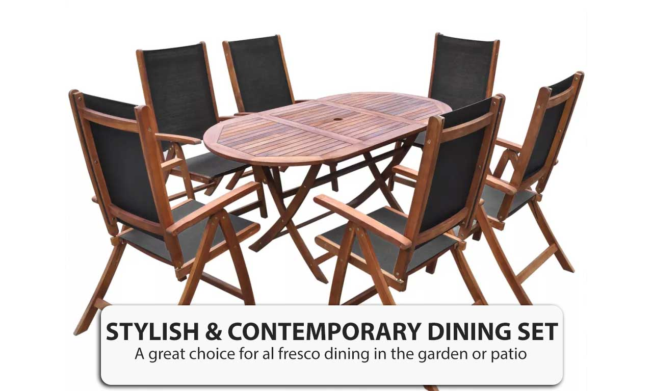 7 Piece Wooden Outdoor Dining Sets