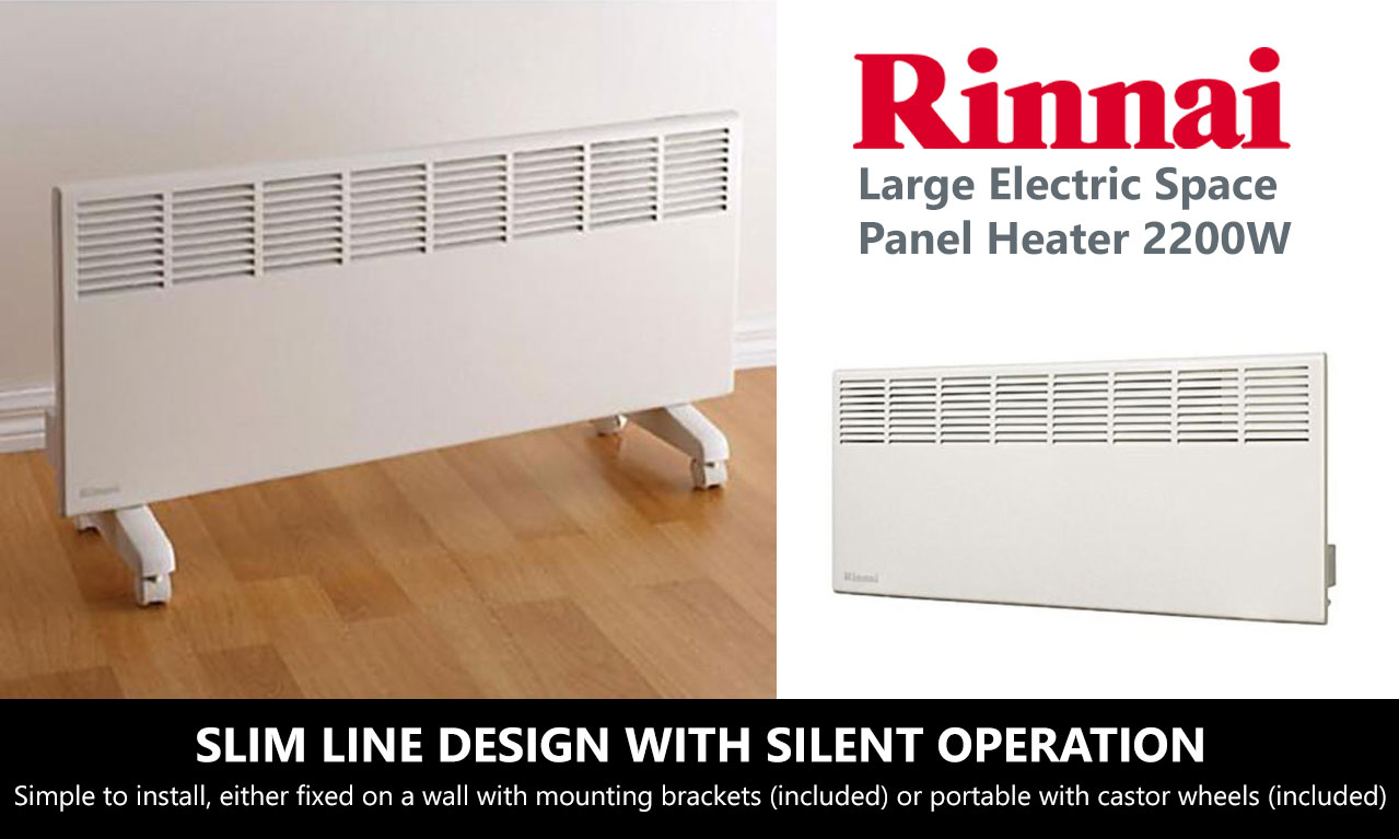 Rinnai 2200w Electric Manual Space Panel Heater With